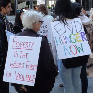 Poverty is the worst form of violence. End hunger now.